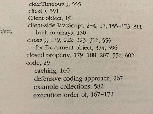 1997 index of 'The Definitive Guide'. Term 'closure' doesn't exist.